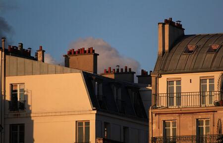 fireplaces: Roofs of Paris, evening light