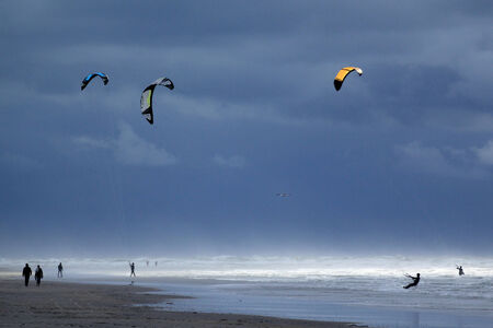 Kite surfing, Channel, France