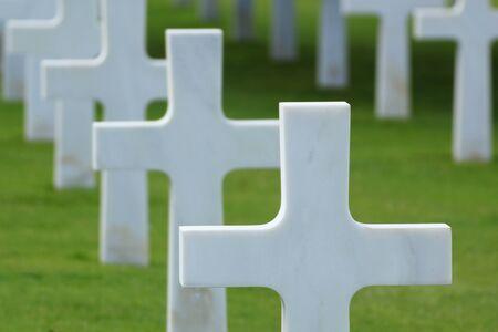 Omaha Beach: de Amerikaanse begraafplaats Stockfoto