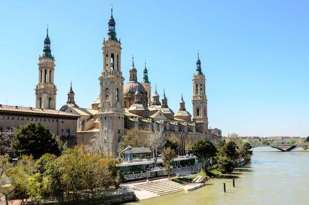 Basilica Del Pilar in Zaragoza  Spain