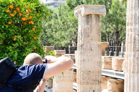 columnas romanas: Detalle en la prospectiva de columnas romanas, Valencia