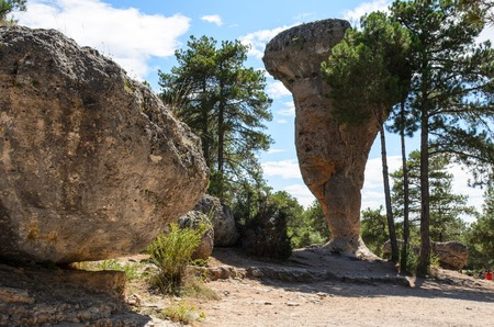 cuenca: The enchanted city, Cuenca, Spain. Large stones in nature