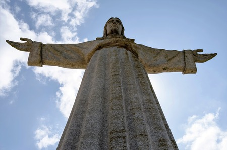 cristo: The Cristo Rei  monument of Jesus Christ in Lisbon, Portugal