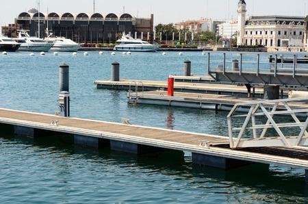 valencia: Docked boats in a harbor in Valencia