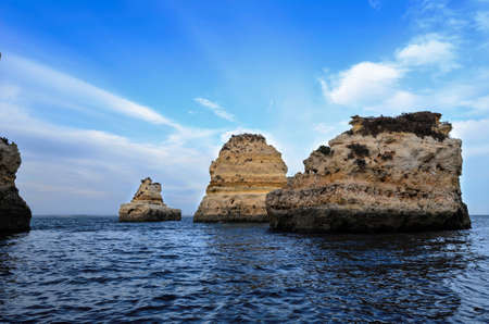 region of algarve: A view of beach Algarve region, Portugal