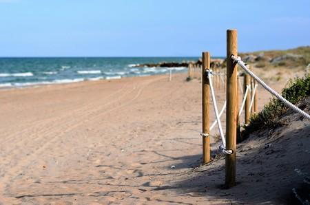 valencia: protection of natural park in Valencia Beach