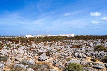 algarve: View of Cabo Sao Vicente lighthouse, Sagres, Algarve region, Portugal Stock Photo