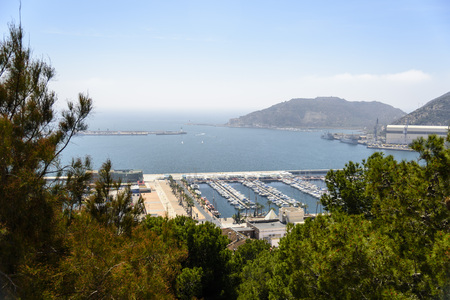 spanish home: Home Spanish naval base with a comfortable deep bay. Stock Photo