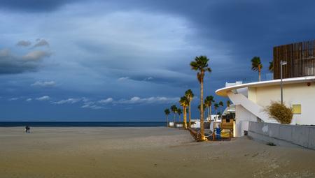 valencia: Malvarrosa coast beach in the afternoon, Valencia Stock Photo