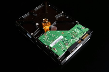 Computer Hard Disk Drive Isolated