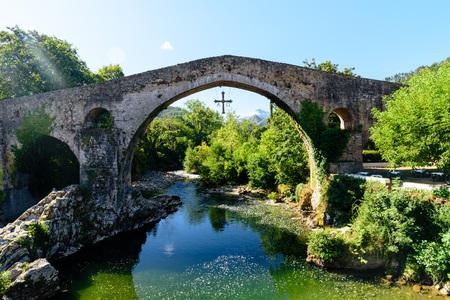 Old Roman stone bridge Stock Photo