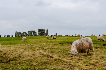 Stonehenge an ancient prehistoric stone monument, United Kingdom, Europe 写真素材