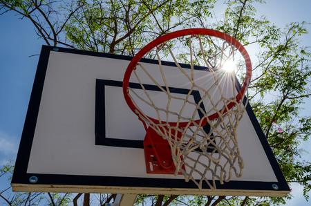 Basket to play basketball with sky Imagens