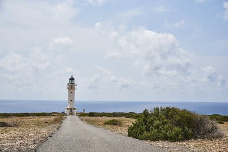 Beach of Formentera with turquoise sea Mediterranean of Balearic islands Stockfoto