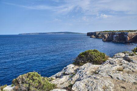 Beach of Formentera with turquoise sea Mediterranean Stockfoto