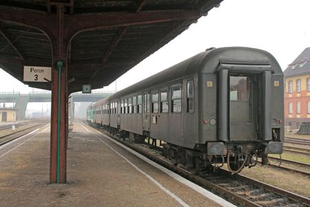 Train stopped at the station photo