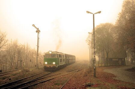 Train starting from the old small station