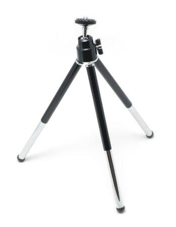Mini desktop tripod isolated on white background