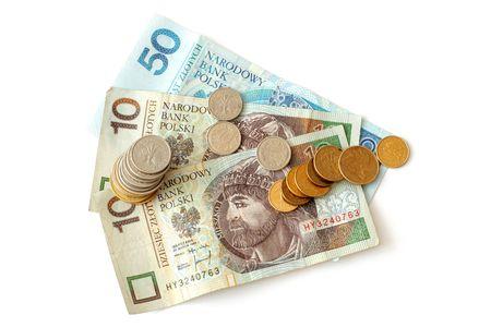 Polish money isolated on white background Stock Photo - 6643331