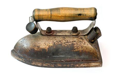 housewares: Vintage iron isolated on a white background