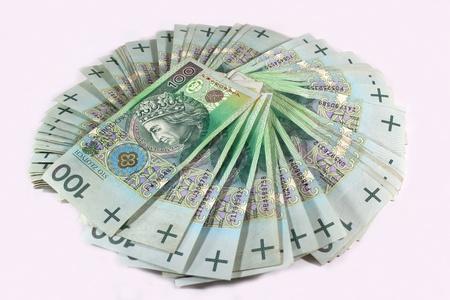 Polish 100 zloty banknotes photo