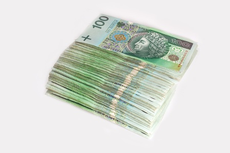 Polish 100 zloty banknotes Stock Photo