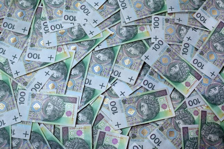 Polish 100 zloty banknotes Stock Photo