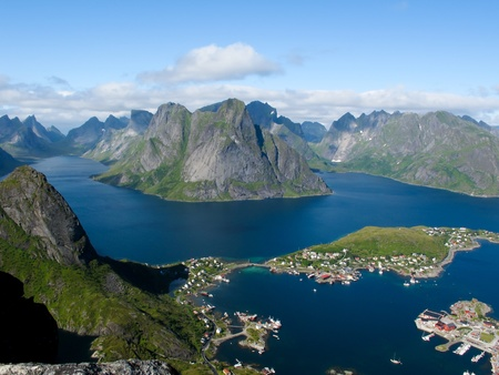Picturesque landscape at Norway islands photo