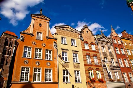 Old town buildings in the centre of Gdansk Poland photo