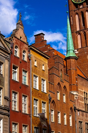 Old town buildings in the centre of Gdansk Poland Stock Photo - 11192636