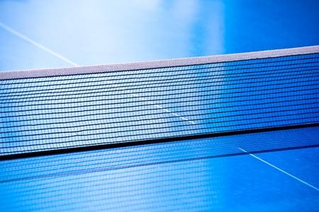 tennis de table: Gros plan Tennis de table nette Banque d'images