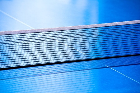 Table tennis net closeup photo