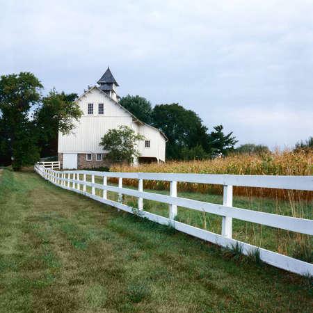 Rural farm in Autumn Editorial
