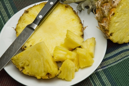 Deliciously sweet pineapple Stock Photo