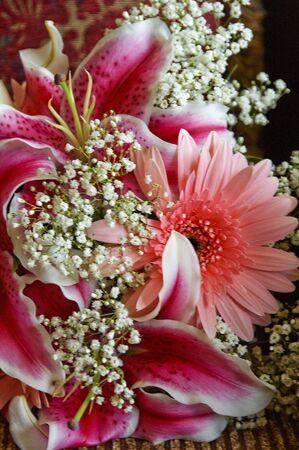 Bridal bouquet close up Stock Photo