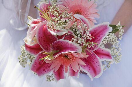 Beautiful pink bridal bouquet
