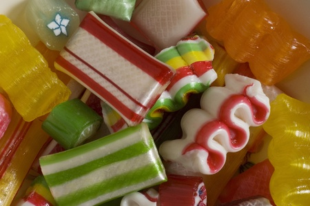 Christmas candy close up