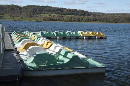 Paddle boats Stock Photo