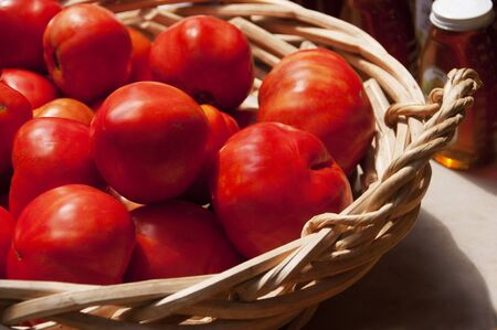 Juicy red tomatoes Stock Photo