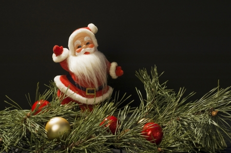 Christmas Scene with Santa Claus Stock Photo
