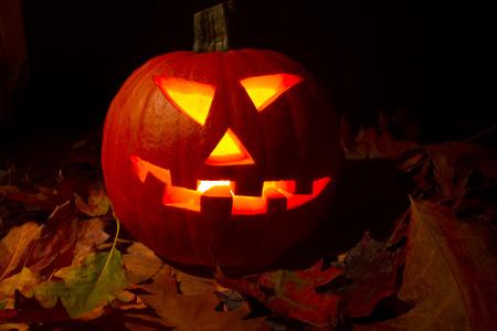 helloween: Pompoen helloween Stockfoto