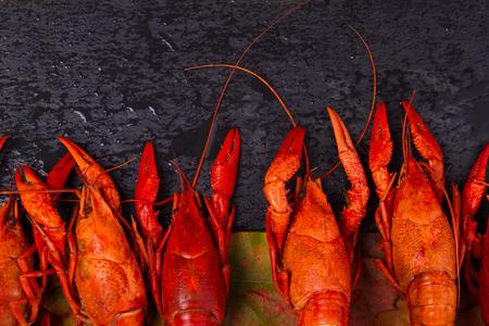 autumn boiled crawfish Stock Photo