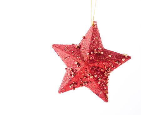 aureate: Red Christmas star Stock Photo