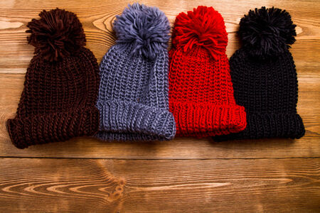 Winter hats with tassel photo
