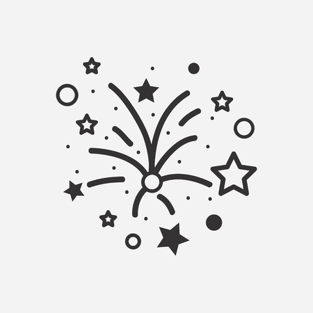 Fireworks icon. Vector illustration.