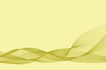 Abstract yellow line background. Energy flow, wave. Vector illustration.