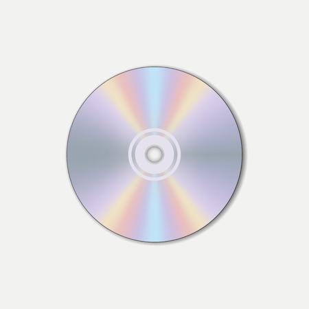 CD, compact disc. Digital carrier. Vector illustration. Vektorové ilustrace