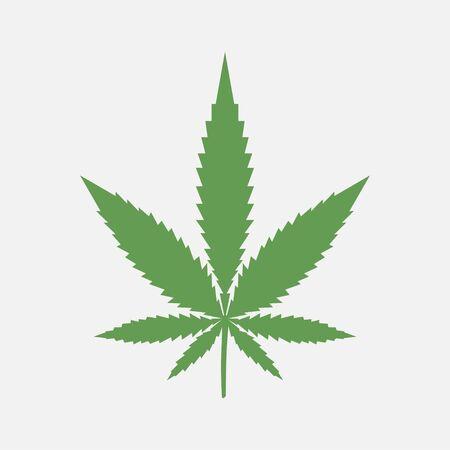 Marijuana leaf. Medical cannabis. Plant. Vector illustration. Ilustracja