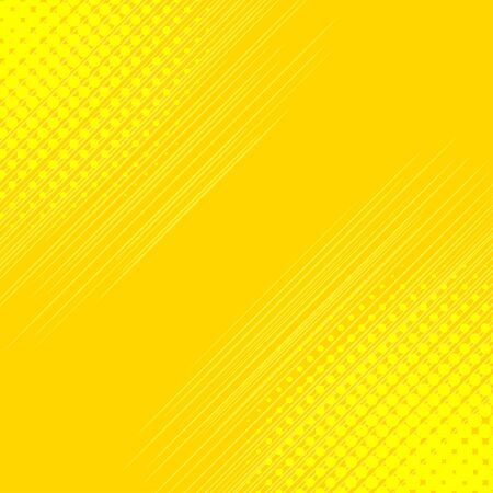 Comic background with halftone effect and speed flying strip. Comic book elements. Yellow abstract backdrop. Vector illustration.