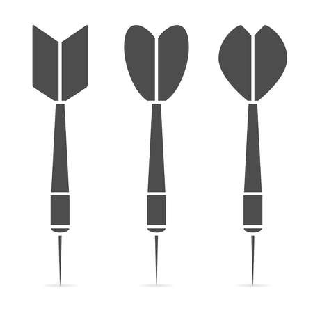 Dart icon set. Collection of realistic darts. Vector illustration. Stock Illustratie